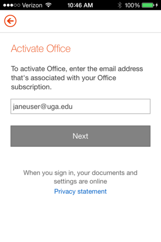 microsoft word sign up