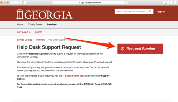 You Will Be Taken To The Help Desk Support Request Page. Click On Request  Service. Design Ideas